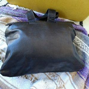 Vintage Bags - Vintage Italian leather Gianfranco Lotti bag woven